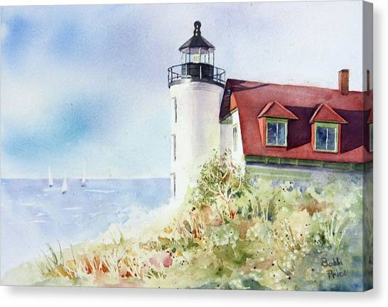 Point Betsie Canvas Print by Bobbi Price