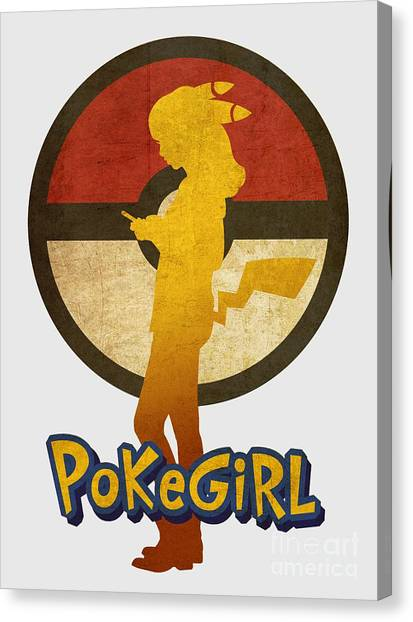 Pokemon Go Canvas Print - Pokegirl 3 by Irina Effa