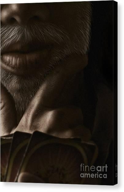 Poker Face Canvas Print