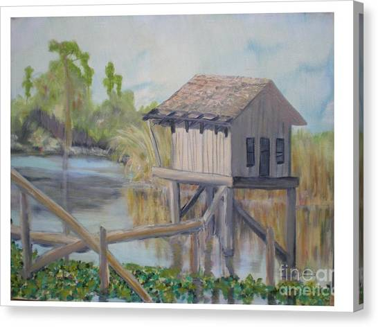 Pole House Canvas Print by Hal Newhouser