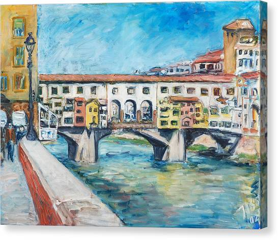 Pontevecchio Canvas Print by Joan De Bot