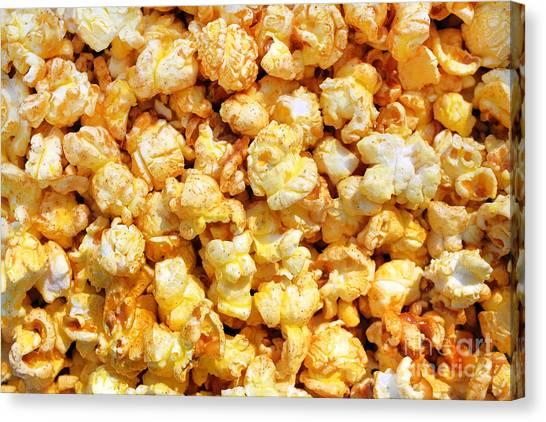 Popcorn Canvas Print - Popcorn Background by Carlos Caetano