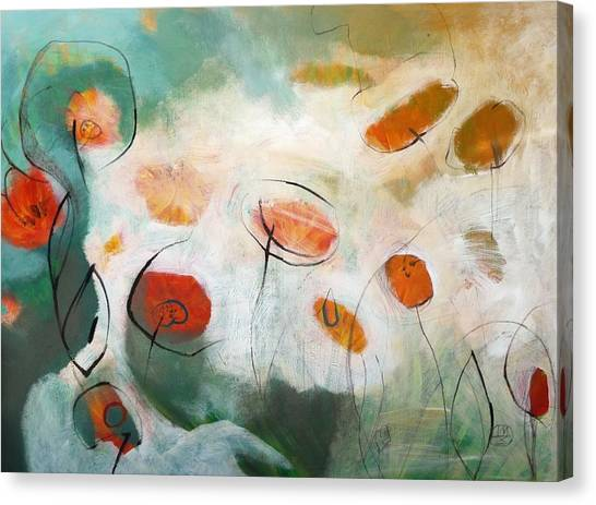 Poppies In The Clouds Canvas Print by Teofana Zaric