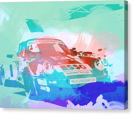 Porsche Canvas Print - Porsche 911  by Naxart Studio