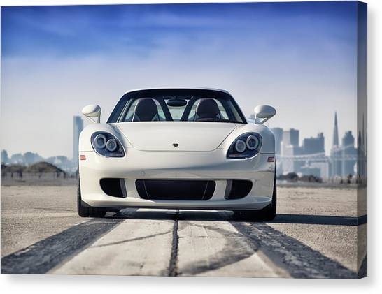 Canvas Print featuring the photograph #porsche #carreragt by ItzKirb Photography