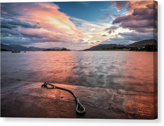 Port Appin Sunrise Canvas Print