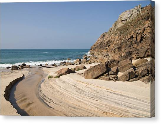 Portheras Beach In Nw Cornwall Canvas Print