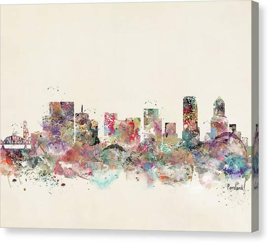 Portland Canvas Print - Portland City Skyline by Bri Buckley