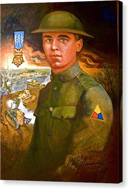 Portrait Of Corporal Roberts Canvas Print