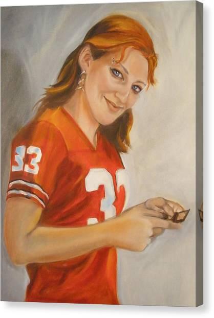 Portrait Of Ellie Canvas Print by Kaytee Esser