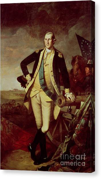 George Washington Canvas Print - Portrait Of George Washington by Charles Willson Peale