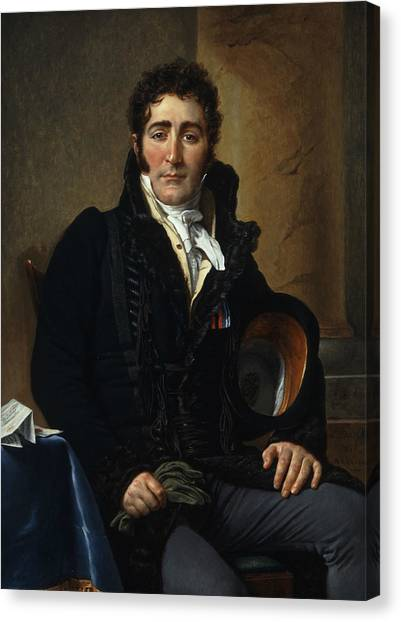 Neoclassical Art Canvas Print - Portrait Of The Comte De Turenne by Jacques-Louis David
