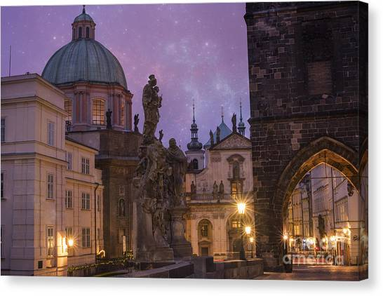 Architectural Detail Canvas Print - Prague, Czech Republic by Juli Scalzi