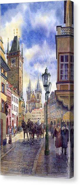 Supplies Canvas Print - Prague Old Town Square 01 by Yuriy Shevchuk