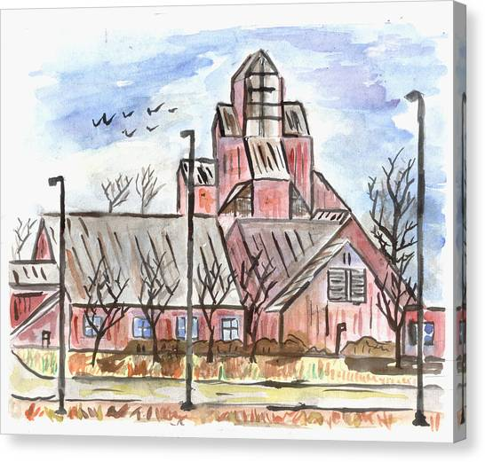 Prairie Holdings Building Canvas Print