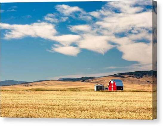Country Canvas Print - Prairie Red by Todd Klassy