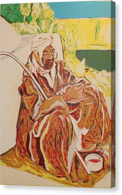 Prayer At Benghazi Canvas Print by Biagio Civale