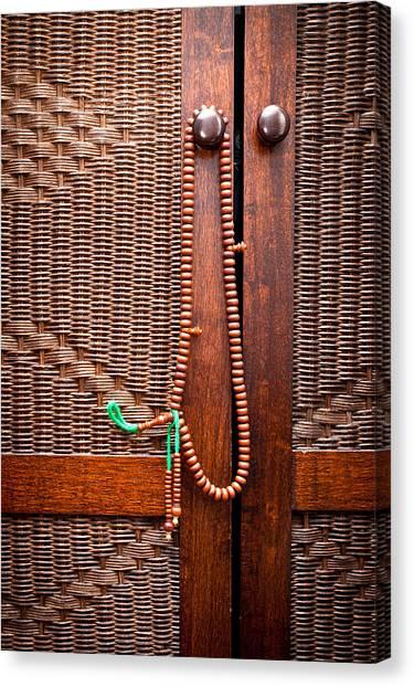 Rosary Canvas Print - Prayer Beads by Tom Gowanlock