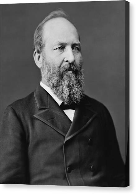American Presidents Canvas Print - President James Garfield Photo by War Is Hell Store