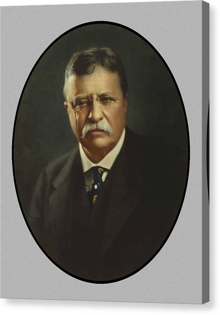 President Canvas Print - President Theodore Roosevelt  by War Is Hell Store
