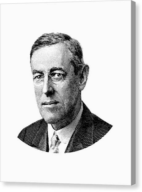Democratic Presidents Canvas Print - President Woodrow Wilson Graphic by War Is Hell Store