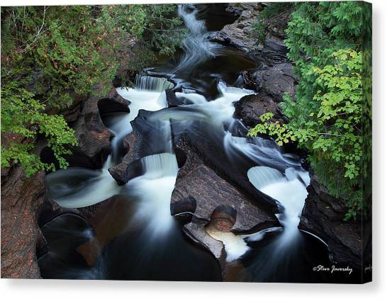 Presque Isle River Falls Canvas Print