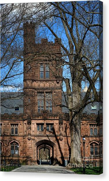 Princeton University Canvas Print - Princeton University East Pyne Hall Tower by Olivier Le Queinec