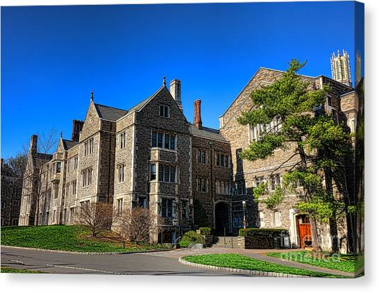 Princeton University Canvas Print - Princeton University Little And Dillon Gym Halls by Olivier Le Queinec