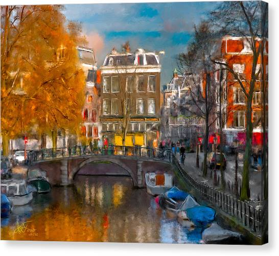 Prinsengracht 807. Amsterdam Canvas Print