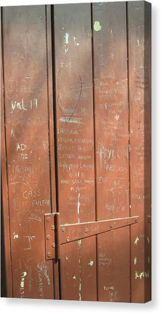 Prison Graffiti Canvas Print
