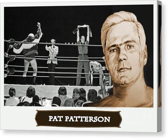 Hulk Hogan Canvas Print - Professional Wrestling Legend Pat Patterson by Jim Fitzpatrick