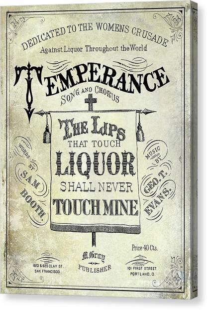 Distillery Canvas Print - Prohibition Lips by Jon Neidert