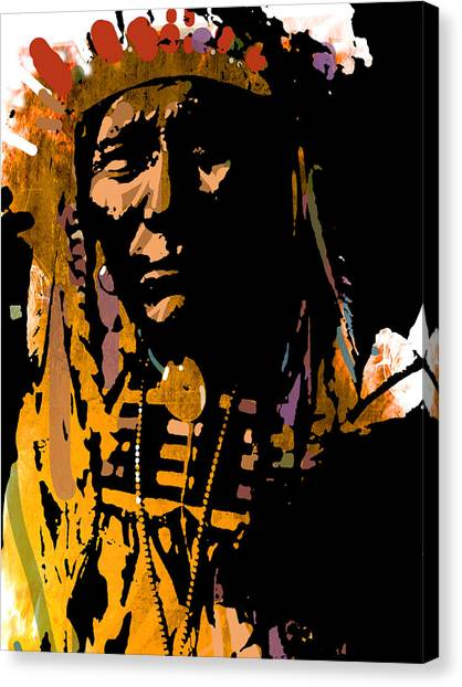 Proud Chief Canvas Print