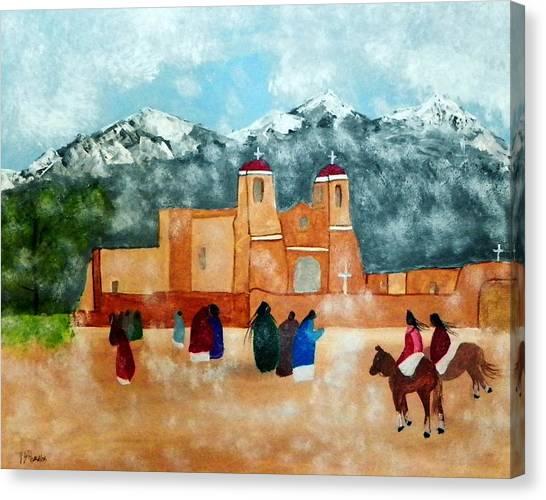 Pueblo Church Canvas Print