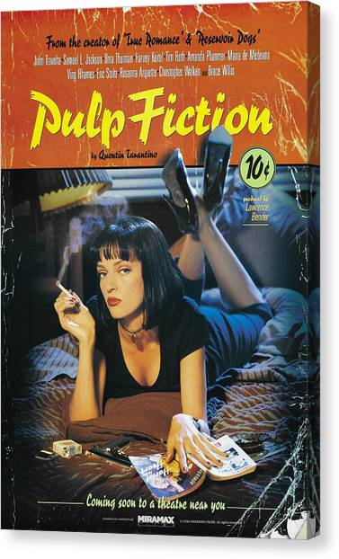 Pulp Fiction Canvas Print - Pulp Fiction 1994 by Geek N Rock