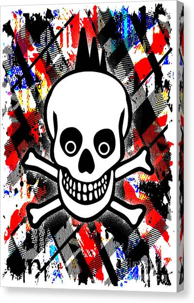 Punk Rock Skull Canvas Print
