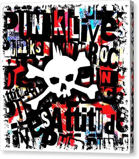 Punk Skull Canvas Print
