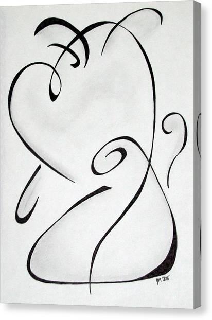 Simplistic Canvas Print - Puppy Love by Jason Moore
