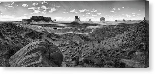 Pure Monument Valley Canvas Print by Andreas Freund