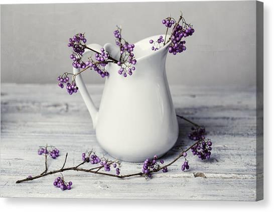 Berries Canvas Print - Purple Berries by Nailia Schwarz