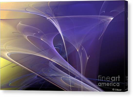 Purple Haze Canvas Print by Sandra Bauser Digital Art
