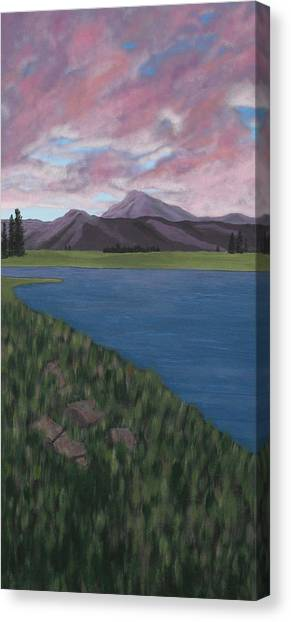 Purple Mountains Canvas Print by Candace Shockley