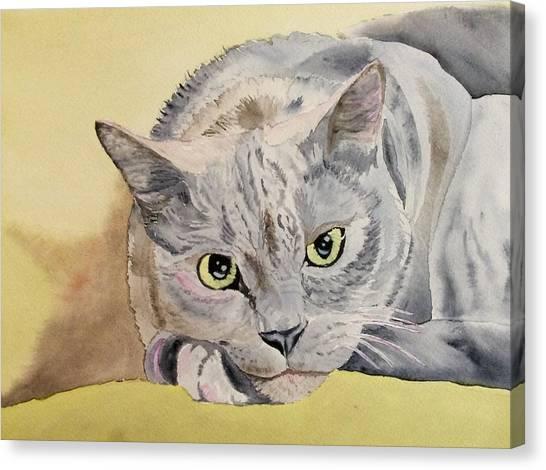 Puss Off Canvas Print