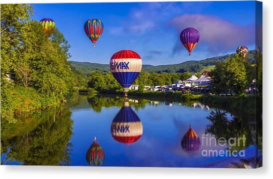 Quechee Balloon Festival. Canvas Print