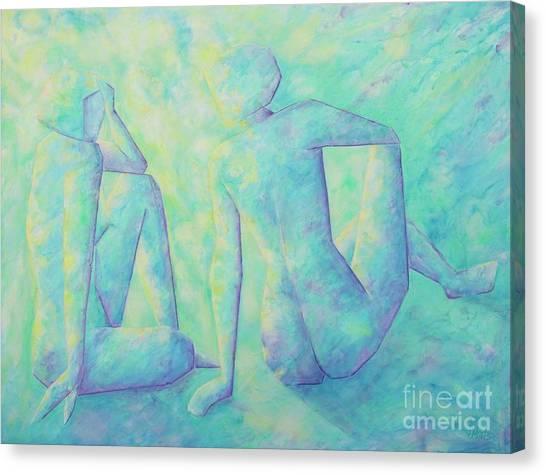 Quiet Conversation II Canvas Print