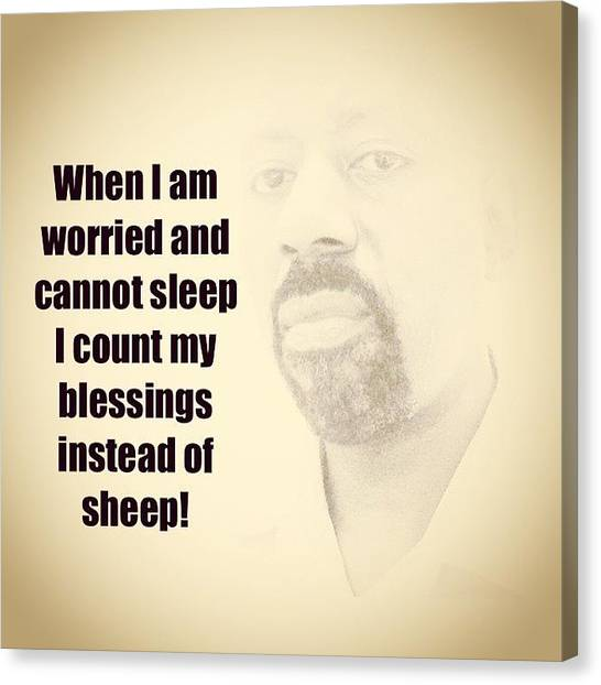 Bible Verses Canvas Print - Do Not Count Sheep by Nigel Williams