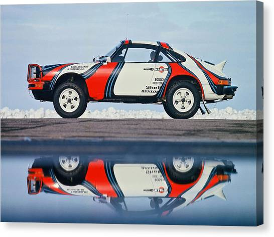 Race Cars Canvas Print - Race Car by Maye Loeser