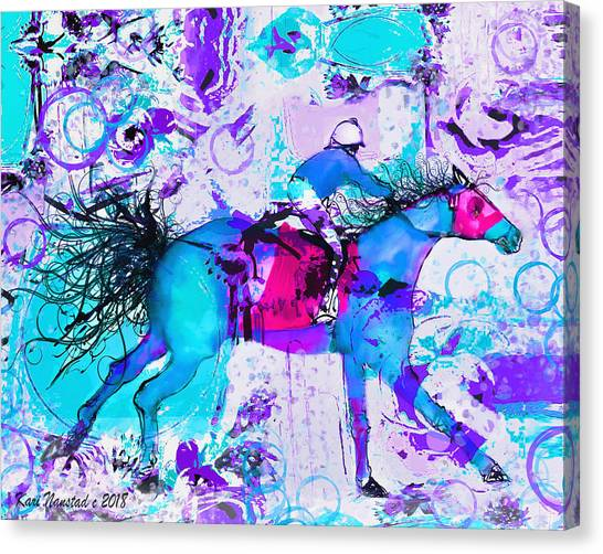 Racing Colors Canvas Print