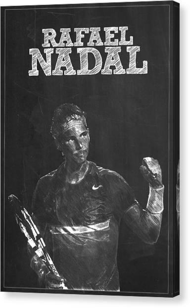 Serena Williams Canvas Print - Rafael Nadal by Semih Yurdabak