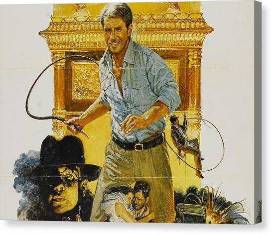 Raiders Of The Lost Ark Canvas Print - Raiders Of The Lost Ark by Maye Loeser